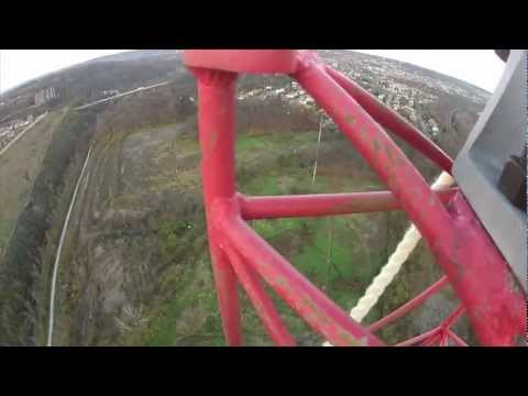 Climbing a Guyed Antenna Tower (Ladder to the Sky) [HD]
