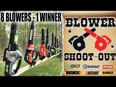 Biggest Cordless Blower Review EVA!!    EGO Worx DeWalt Ryobi Echo Kobolt Greenworks