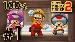 Super Mario Maker 2 - Story Mode Part 1 - 100% Walkthrough
