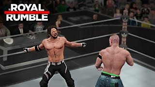 WWE 2K17 Royal Rumble 2017 - John Cena vs AJ Styles WWE Championship Match Prediction (PS4 & XB1)