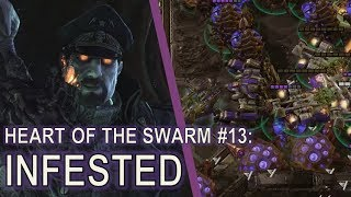 Starcraft II Heart of the Swarm Mission 13 - Infested [All Achievements; Swarmhosts and Infestors!]