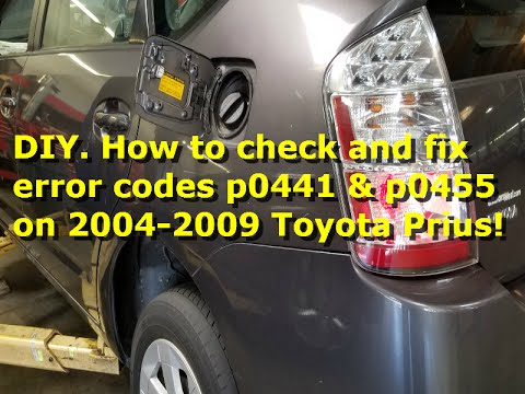 2005 toyota prius codes p0441 p0455.DIY.How to inspect and fix the error codes p0441 & p0455