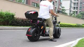 Citycoco scooter 2000w Rooder r804o with Bluetooth speaker