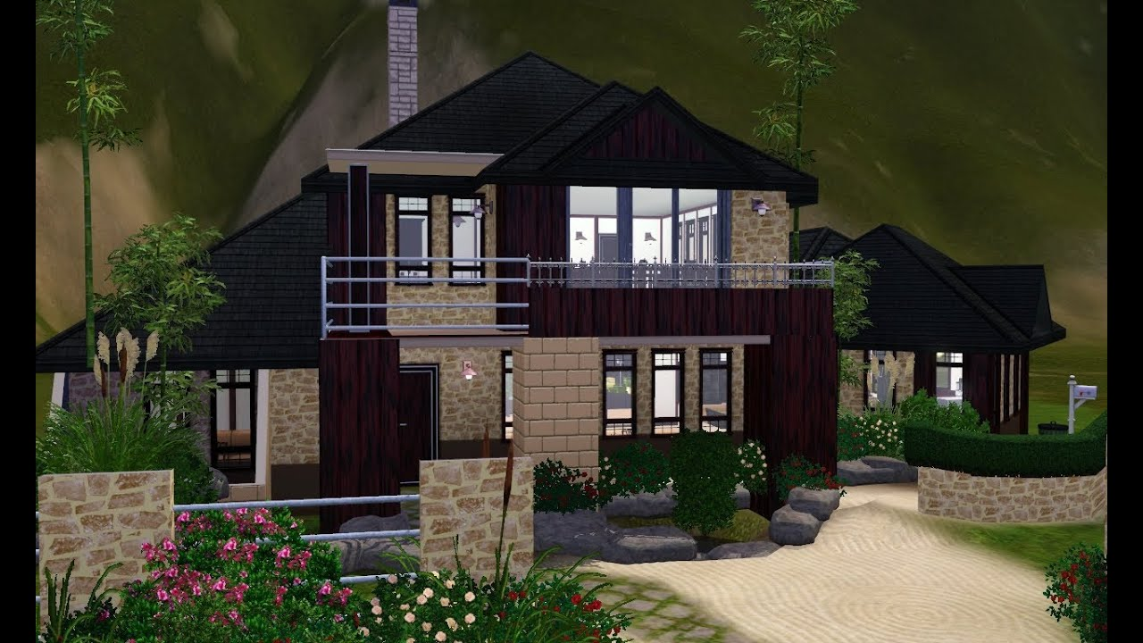 The sims 3 house designs asian inspired youtube for Best house designs for the sims 3