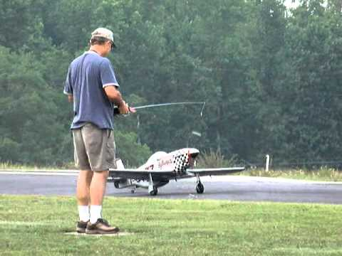 Wayne Miller takes off his RC P-51 Mustang