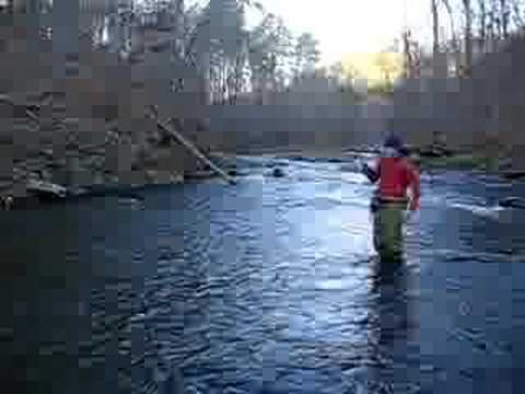 Fly Fishing on The Lower Mt. Fork River Oklahoma