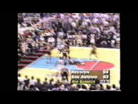 Robert Horry CLUTCH game winner vs Spurs 1995 Playoffs WCF Game 1