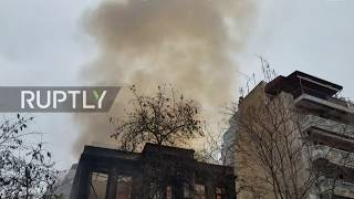 Welcome To Leith Greece: Antifa-occupied building torched amid Thessaloniki protests