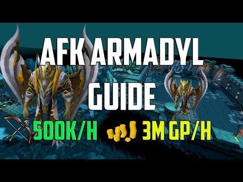 Runescape 3 - AFK Armadyl guide | 3m an hour and 500k/h ranged XP