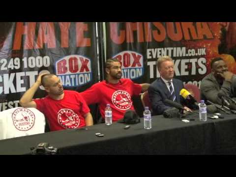 DAVID HAYE v DERECK CHISORA POST-FIGHT PRESS CONFERENCE / FOR iFILM LONDON