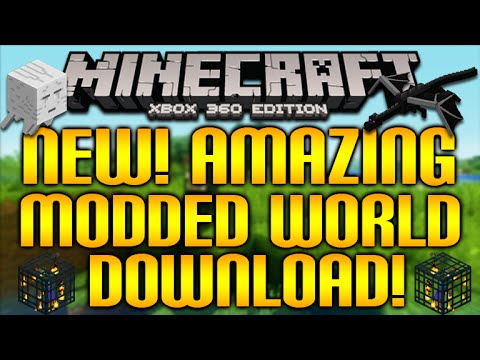 Minecraft (Xbox360/XB1) - NEW! AMAZING MODDED MAP! TOOLS, WEAPONS, GIANT ZOMBIES & MORE! [DOWNLOAD]