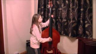 Donna - 11 year old playing double bass to Rock this town by the Straycats.