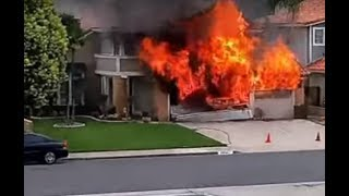 AI Automated Robotic Surveillance Camera Catches House Explosion and Fire