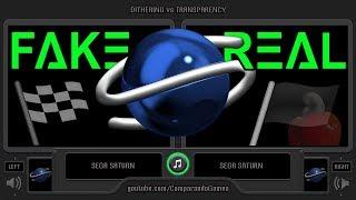 Sega Saturn (Transparency Fake vs Real Transparency) Side by Side Comparison - VCDECIDE
