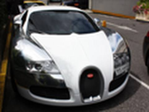 Chrome/White Bugatti Veyron Video
