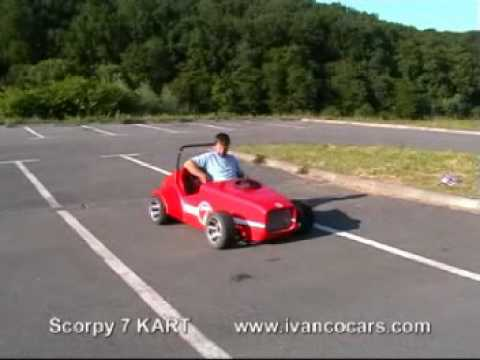 Go kart  in Lotus 7 style - Scorpy 7 for adults and children