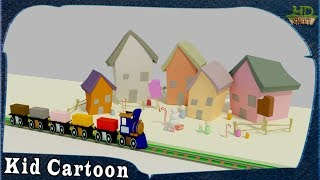 Toy Train Cartoon for Kid Learning | Colors for Children with Cartoon Cars on Train