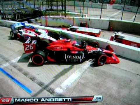 Marco Andretti drops f bomb indycar long beach crash sebastian bourdais