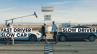 Porsche 911 vs. VW Jetta | Fast Driver vs. Slow Driver | Donut Media