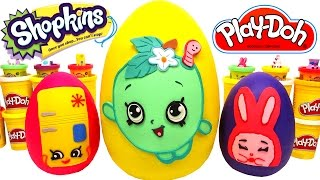 3 Huevos Sorpresas Gigantes de Shopkins en Español de Plastilina Play Doh