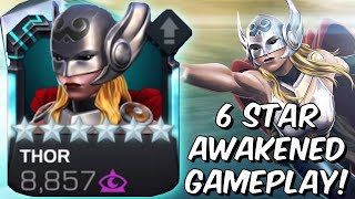 6 Star Thor Jane Foster Awakened Gameplay! - Actually Quite Fun?! - Marvel Contest of Champions