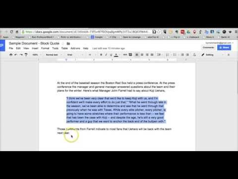 How To Create Block Quotes In Google Documents Youtube