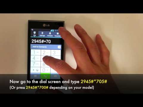 How to Unlock LG Optimus L7 P705 / P700 Network in 5 Minutes for Rogers. Fido and other Carriers