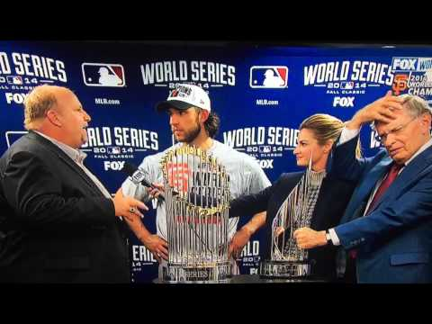 Nervous Chevy Spokesman presents truck to Madison Bumgarner