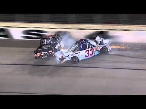 Kyle Busch wrecks Ron Hornaday under caution, gets parked - 2011 WinStar World Casino 350k