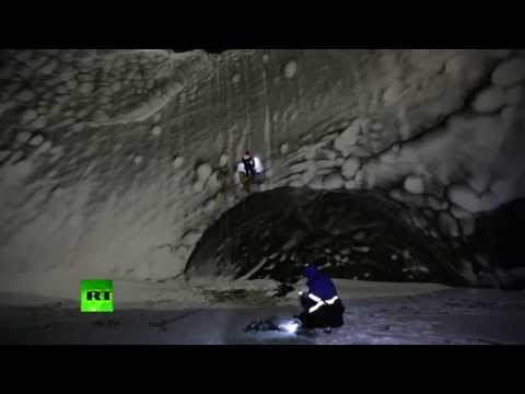 Stunning beauty: Scientists descend into mysterious 'end of world' Siberian crater