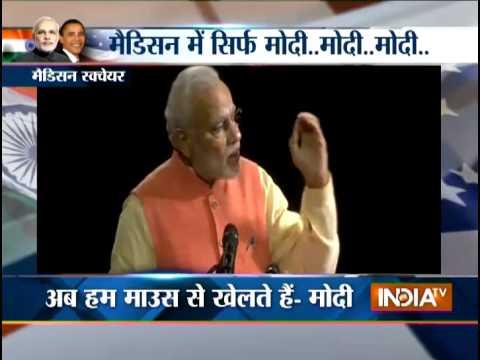 Modi in US: Top 10 Highlights Of Narendra Modi Speech In Madison Square Garden US - India TV