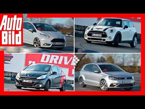 Der Kartbahn-Test: Fiesta ST, Polo GTI, 208 GTI, Cooper S / Review