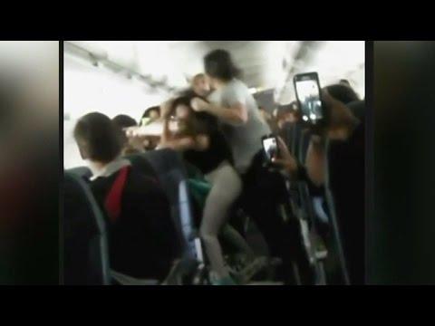 Spirit Airlines passengers brawl on flight