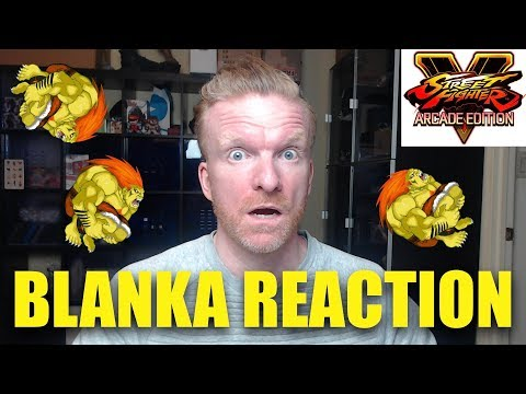 BLANKA Gameplay Trailer REACTION & REVIEW - Street Fighter V Arcade Edition