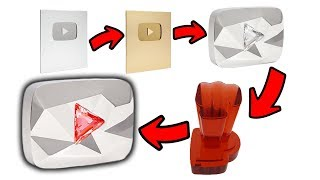 The New 100 Million Subscriber Award... The Red Diamond Creator Award