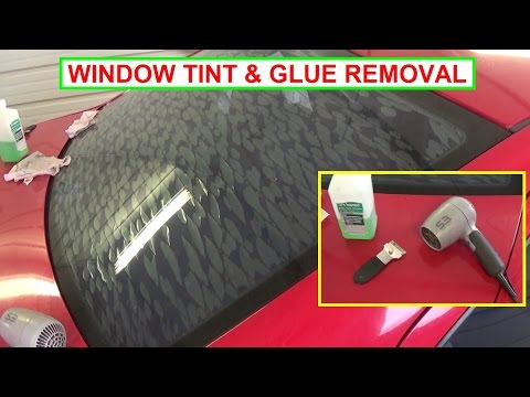 How to Remove Window Tint and Glue. Easy Guaranteed Results