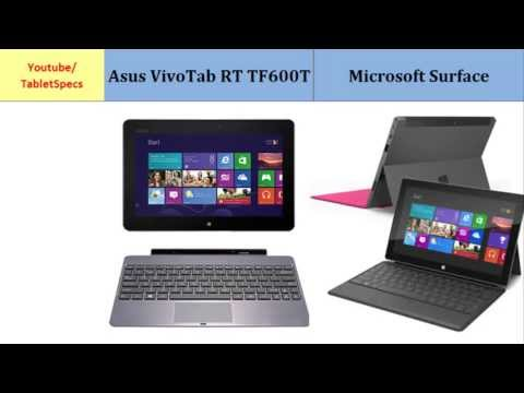 Asus VivoTab RT TF600T Vs Microsoft Surface, Quick Comparison