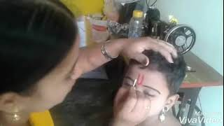Lkg student make up Lord Rama with his mother Malathi
