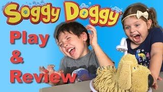 DAD & KIDS PLAY SOGGY DOGGY - Unboxing - How To - Game Play - Review