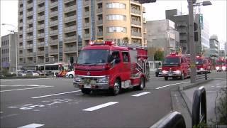 消防車50台行進!/Japanese fire engines