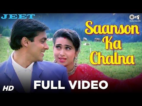 Saanson Ka Chalna - Jeet | Salman Khan & Karisma Kapoor | Udit Narayan & Alka Yagnik video