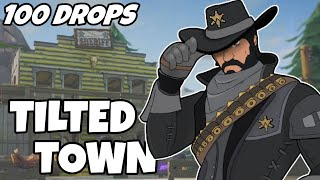 I Dropped Tilted Town 100 Times And This Is What Happened (Fortnite)