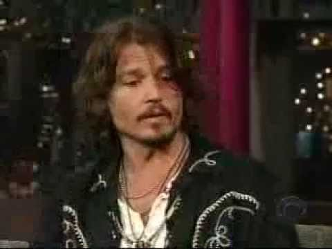Johnny Depp David Letterman interview 2006 Part 1