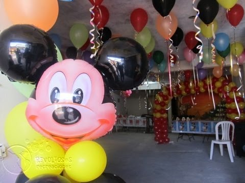 DECORACION FIESTA TEMATICA MICKEY MOUSE - YouTube