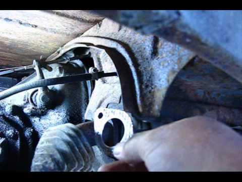 Shadetree VW Bug exhaust leak fix