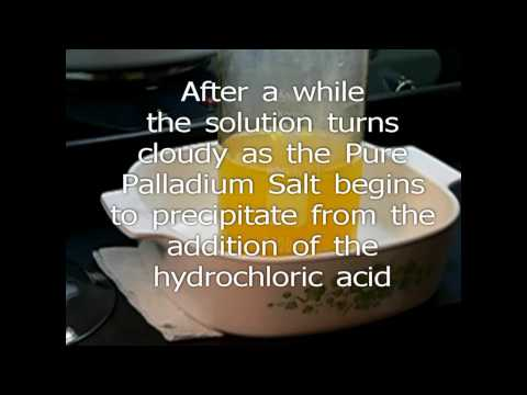 Palladium Refining Dissolving Impure DMG Extracted Pd Salt i