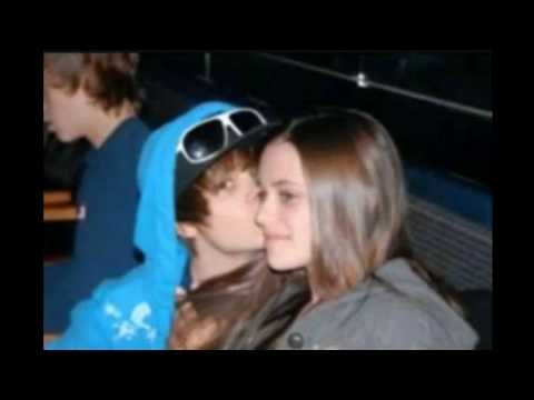 Justin Bieber - new girlfrined 2010 kissing with lips. 264701 shouts