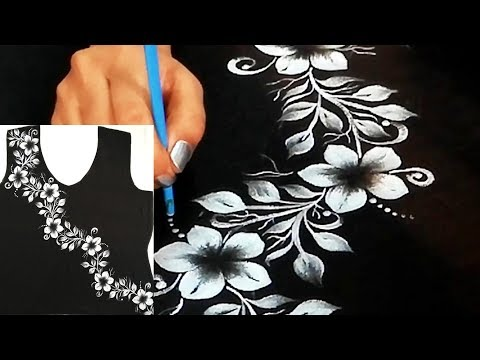 Silver Painted Suit Design | Latest Fashion Suit Design | Black color Kurti design