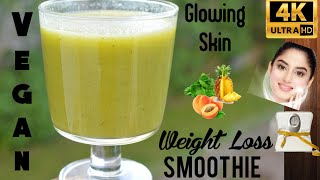 Weight loss Drink|Green Smoothie for Glowing skin|Spinach Pineapple Smoothie|Apricot recipe|Smoothie