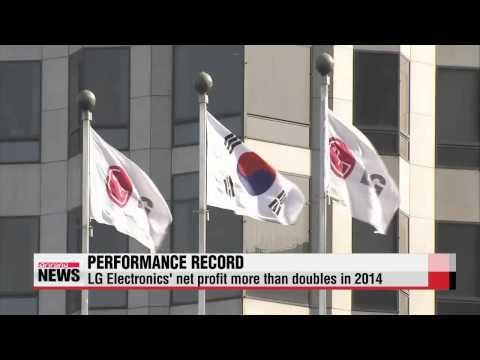 LG Electronics′ posts net profit jump in 2014   LG전자 작년 영업이익 1조8천285억원…46.4%↑
